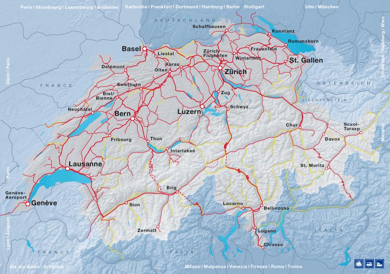 Cartina Autostradale Svizzera.Swisstrains Movimenti Dei Treni In Svizzera Su Una Mappa Google